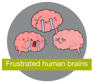 Frustrated Human Brains