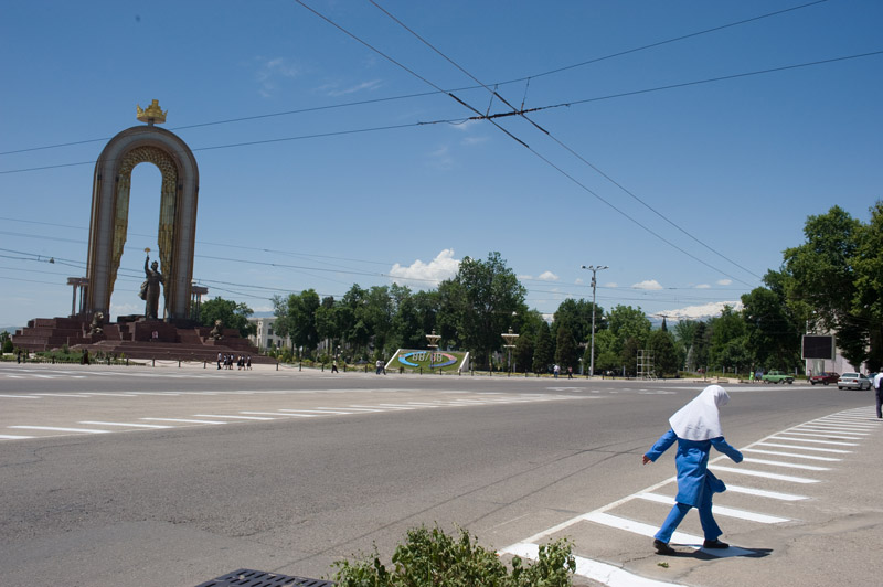 The square where Lenin used to stand.