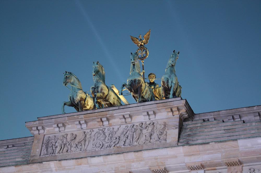 Es Gibt nur ein Berlin - Der er kun en Berlin. Brandenburger Tor Berlin. november 2014