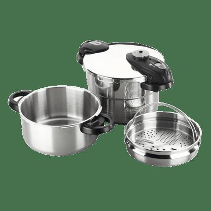 西班牙Fagor 4+6公升 短柄快煮壓⼒鍋組