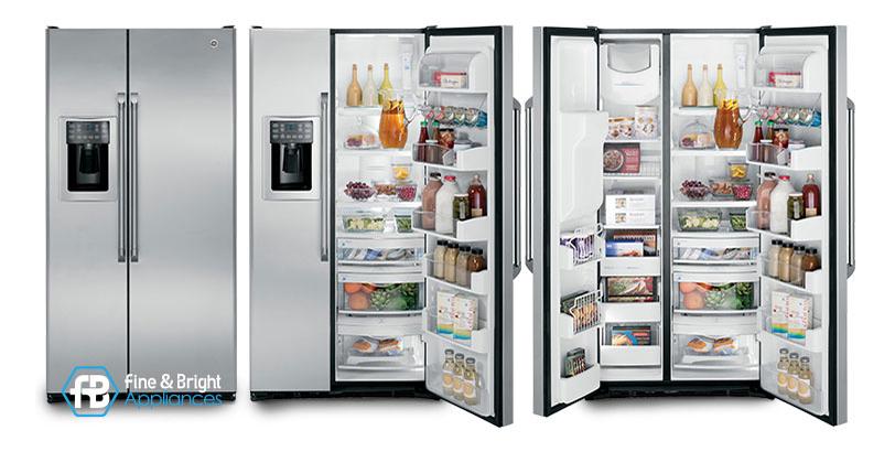 美國奇異CZS25TSSS不鏽鋼對開冰箱