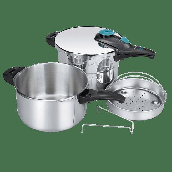 COMBIX 4+6公升快煮壓⼒鍋組