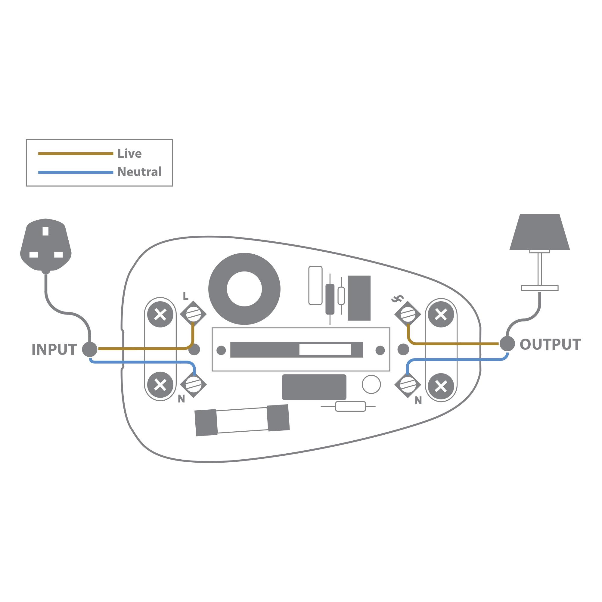 In Line Lamp Dimmer Switch