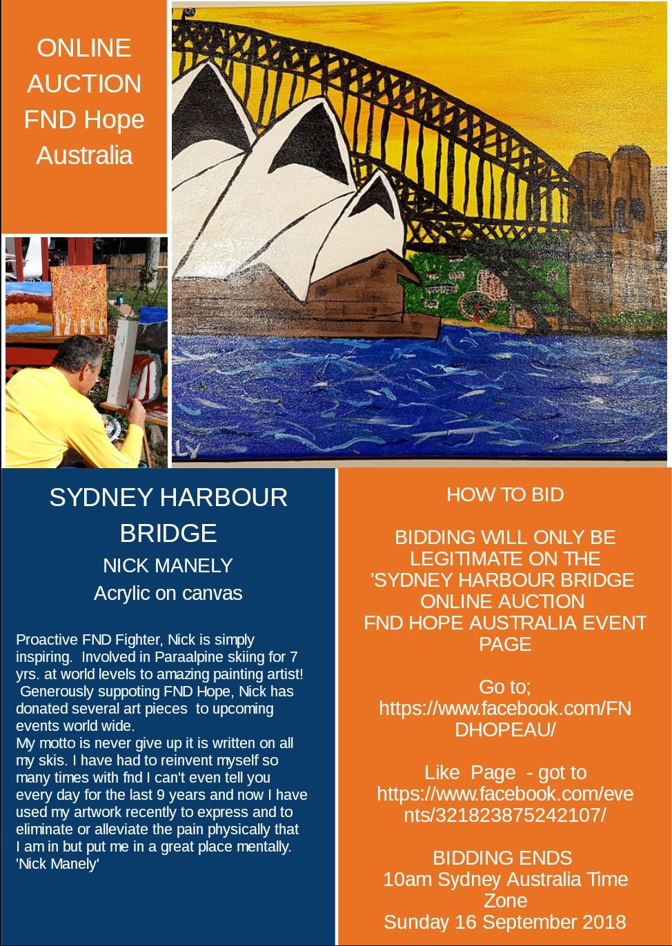 Sydney Harbour Bridge Online Auction Fnd Hope International