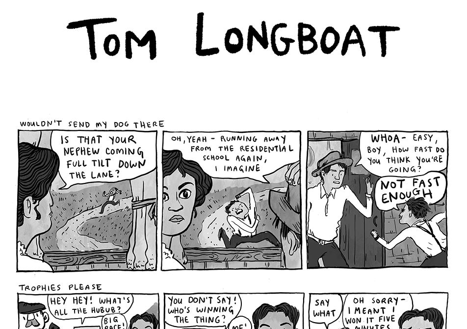 Comic: Tribute to First Nations Runner, Tom Longboat