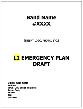 Community Emergency Preparedness Plan Template — First