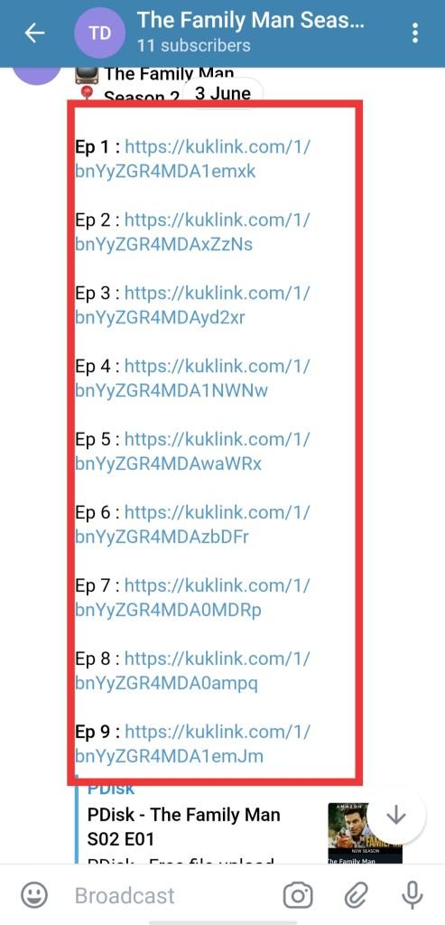 the family man season 2 telegram link free download