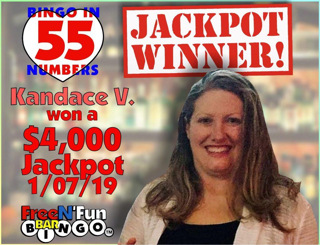 Jackpot Winner 2019 Kandace