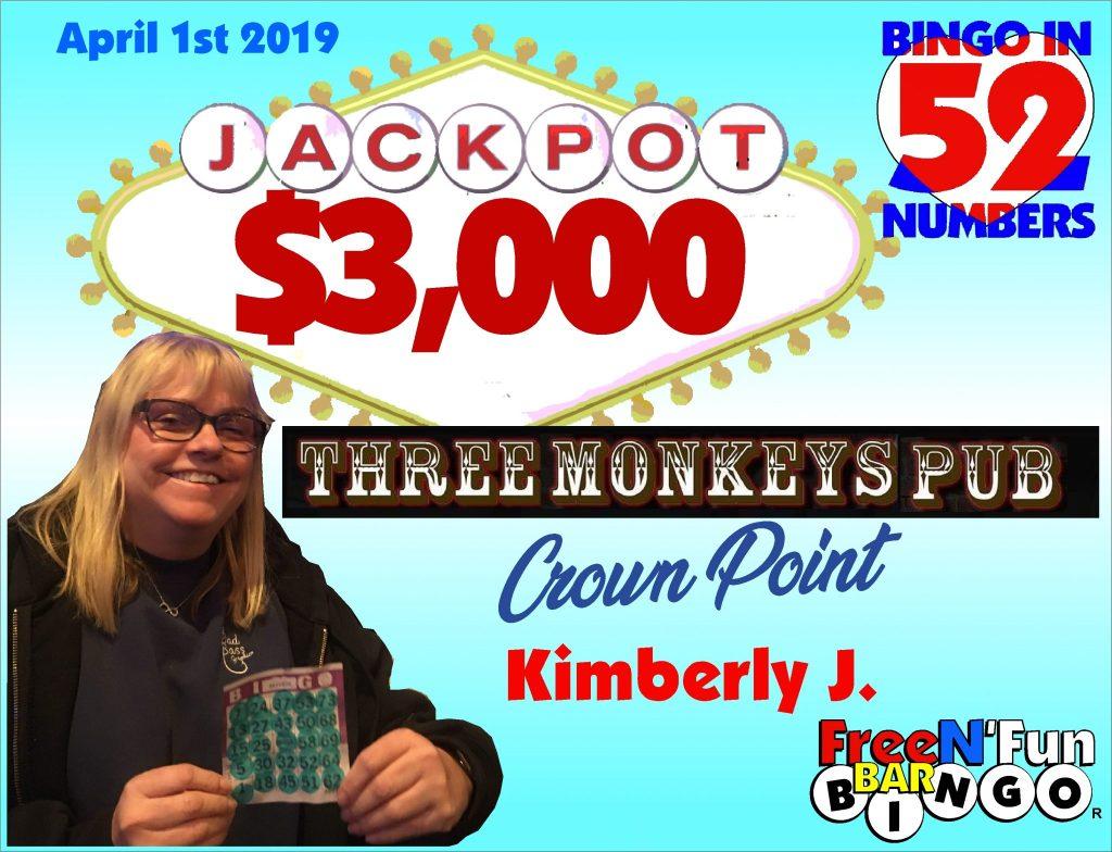 Jackpot Winner 2019 Kimberly