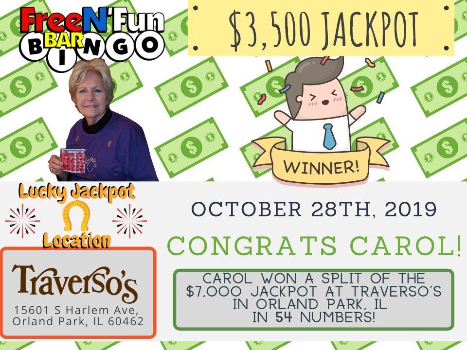 Jackpot Winner 2019 Carol