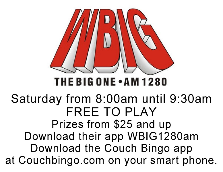 WBIG EverySaturday from 8am to 9:30am