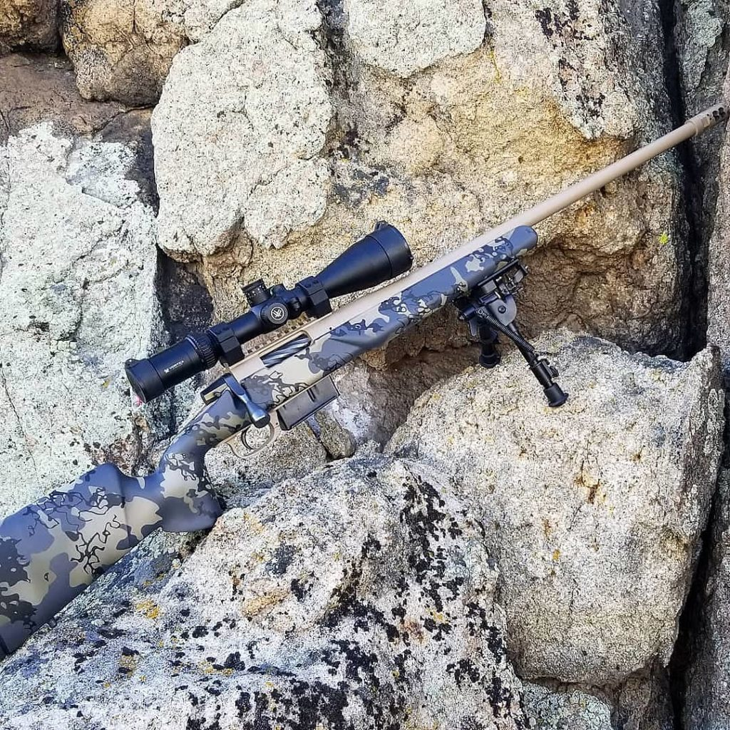 Custom designed bolt action rifle coating with cerakote from FNG Precision Coatings