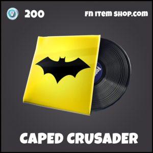 Caped Crusader batman DC fortnite music