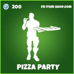Pizza Party uncommon fortnite emote