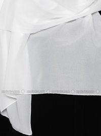 Chiffon Shawl - White - Gulsoy