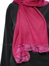 Lace Detailed Shawl - Red - Shawls - Modanisa