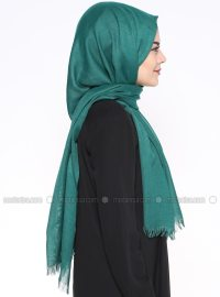 Plain - Green - Pashmina - Shawl