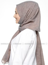 Brown - Plain - Shawl - ALESS