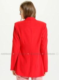 Red - Shawl Collar - Jacket