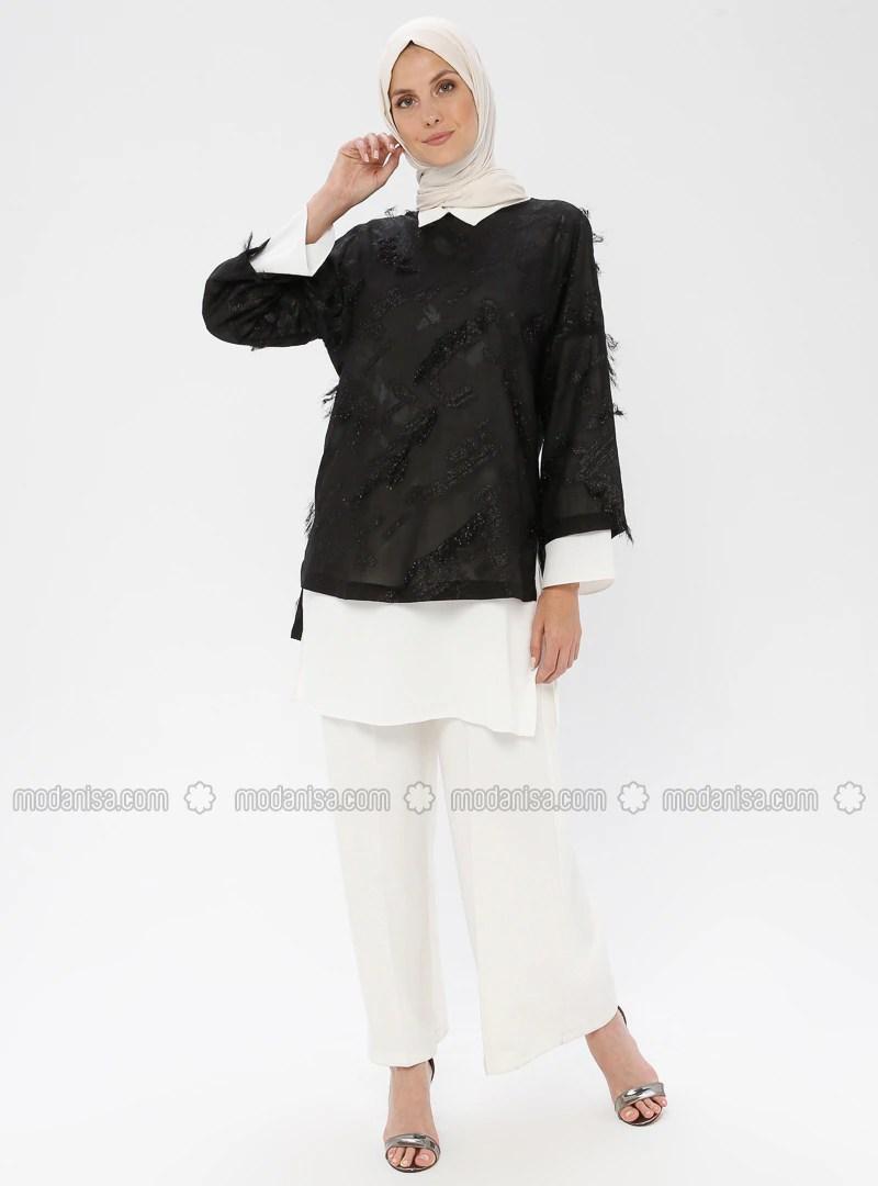 black unlined suit