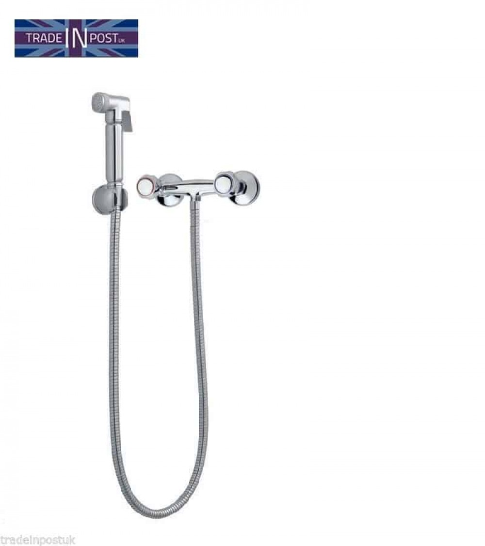 Chrome Hand Held Muslim Bidet Spray Douche Shattaf With