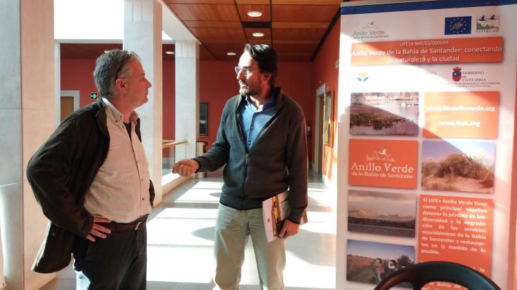 Jesús Varas Dirección General del Medio Natural de Cantabria_Carlos Sánchez FNYH durante Workshop Nature in the City en Paraninfo de Universidad de Cantabria