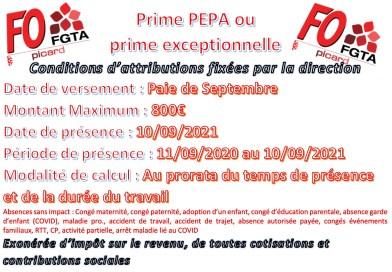 CSE Central Extra du 16/09/2021 «Prime PEPA»