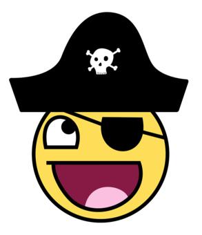cartoon pirate face