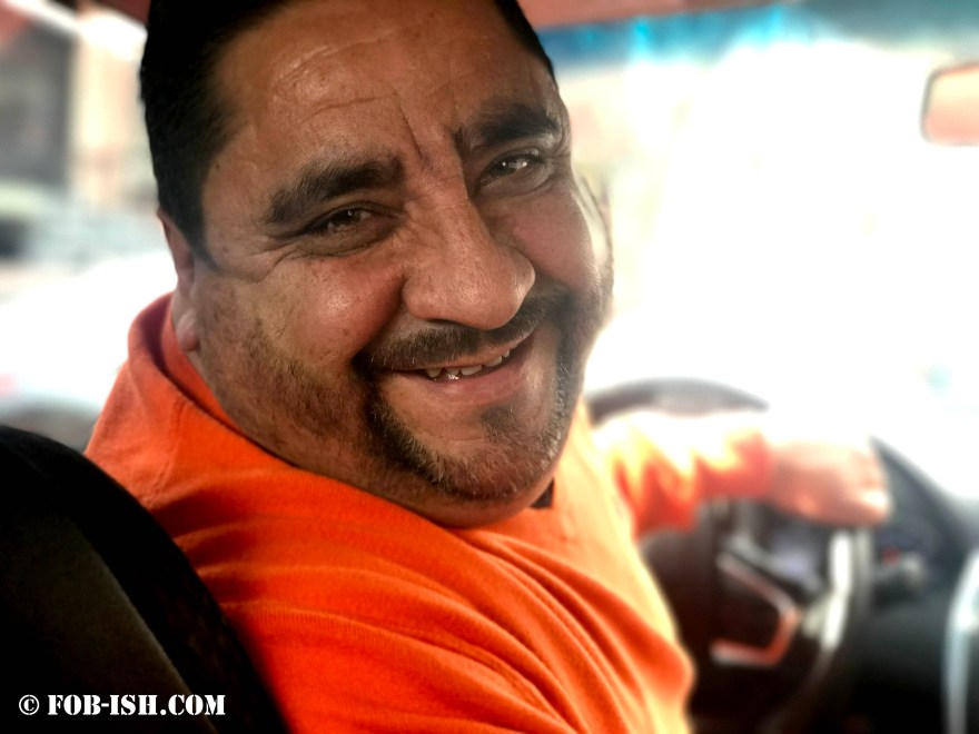 Photo of taxi driver from Puerto Rico