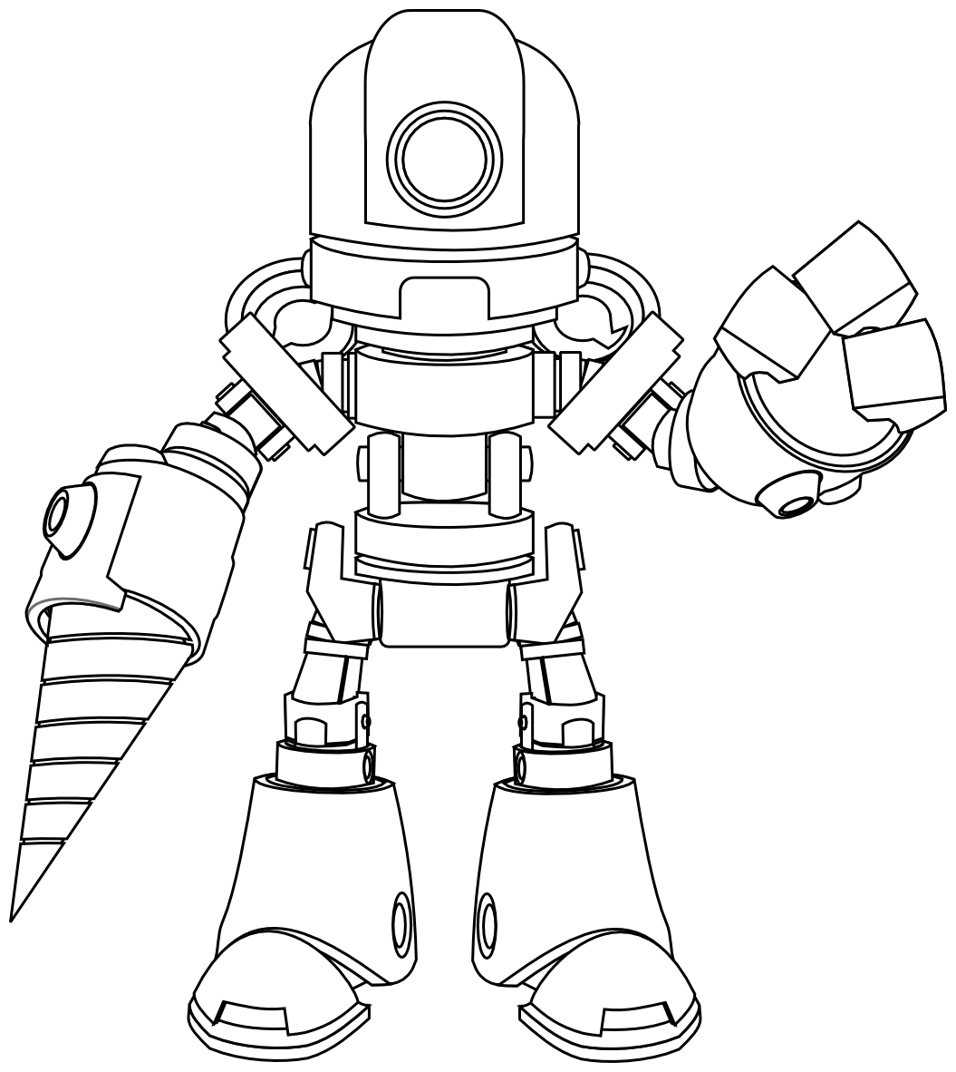 Robot Template. paper robot template. split pin robot