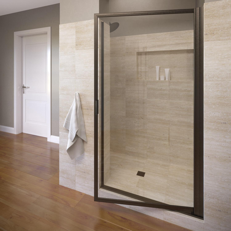 Basco 100 8clor 32 Deluxe Pivot Swing Door With Clear Glass