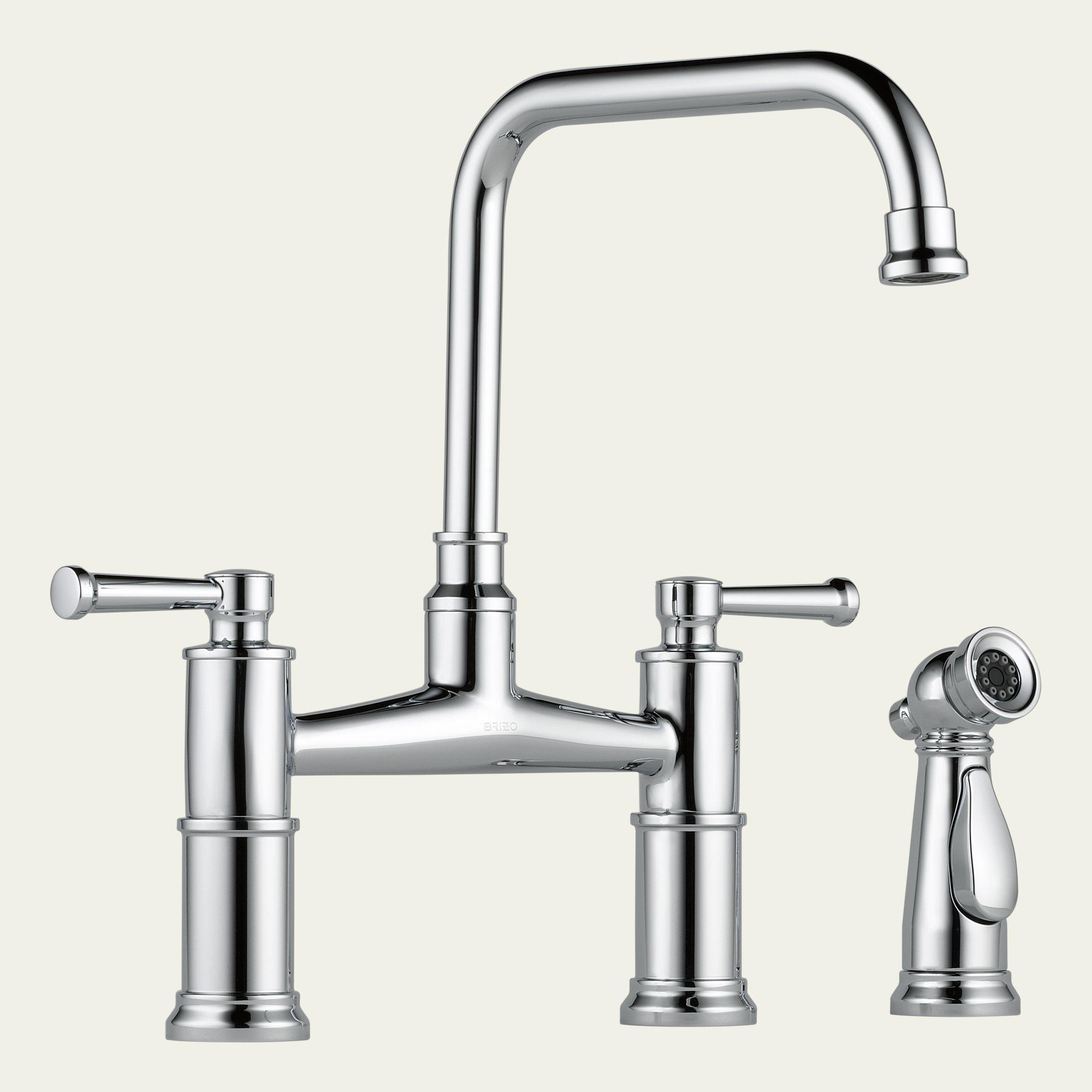 62525LF Brizo Two Handle Bridge Kitchen Faucet with Spray