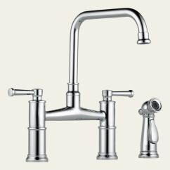 Bridge Faucets For Kitchen Angled Cabinets 62525lf Brizo Two Handle Faucet With Spray