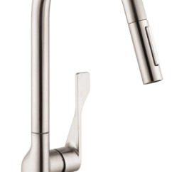 Axor Kitchen Faucet Traditional Faucets Hansgrohe 39835801 Citterio 2 Spray Higharc Pull-down ...
