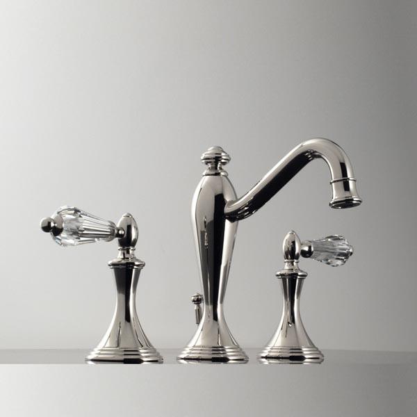 2520YC Santec Lear Crystal Widespread Lavatory Faucet