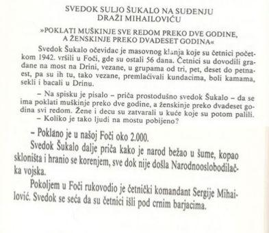 Foča - Genocid nad muslimanima 1941. - 1945. - dokumenti