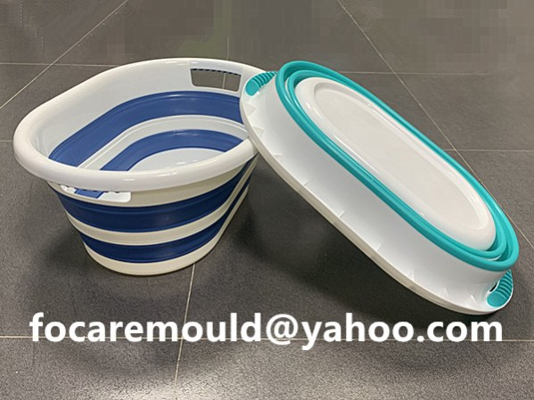 2 materials baby tub collapsible