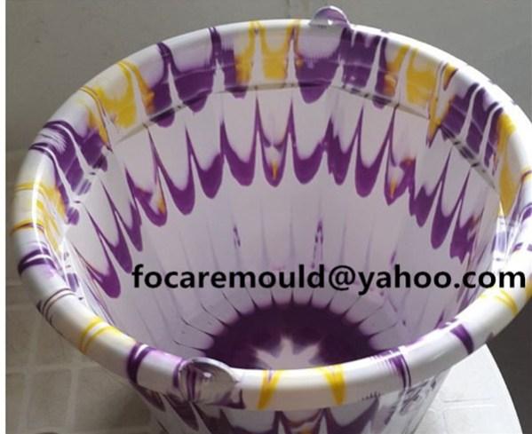 3 color water bucket mold