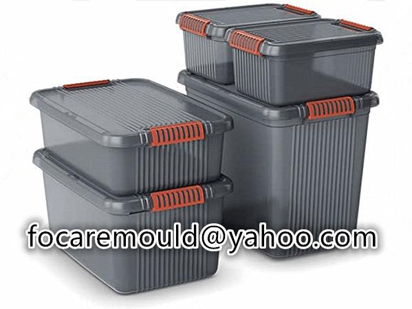 bi material clip for organize box