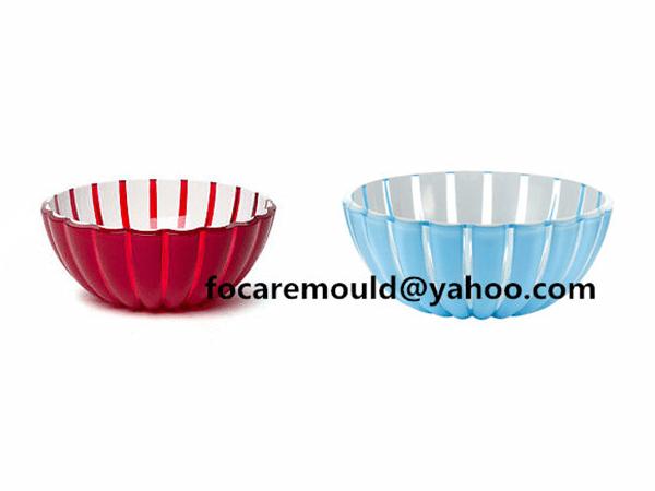 dual color salad mixing bowl