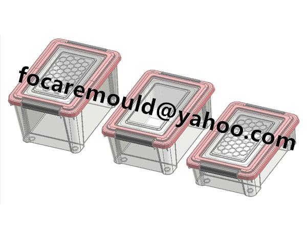 plastic double color collection box lid