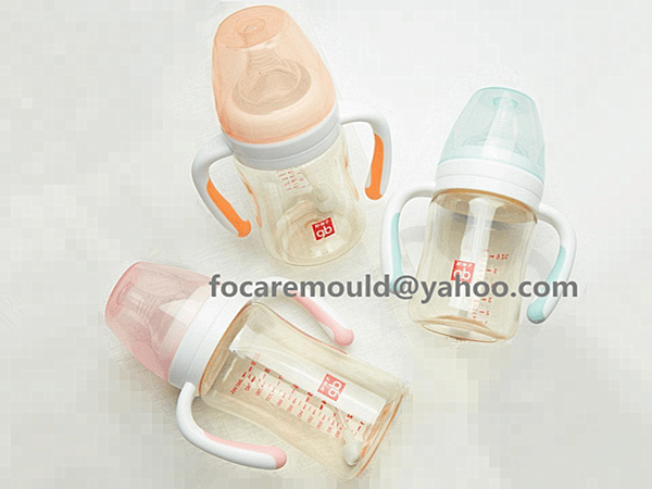 two color baby feeder handle