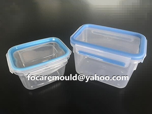 two color food box lid mold design