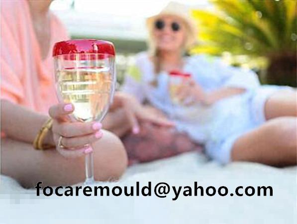 3 color wine glass