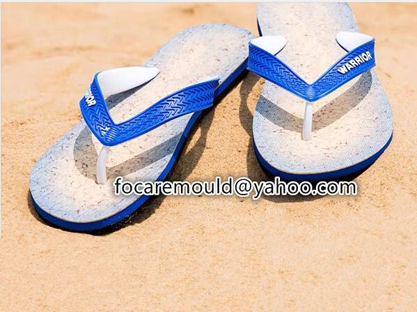 two materials slippers strap mold