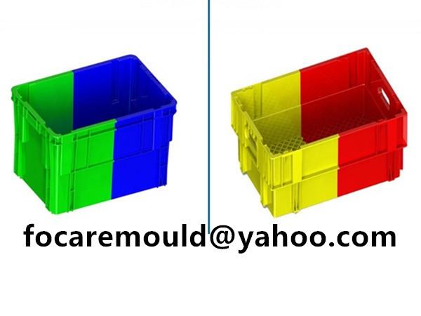plastic double storage bins mold