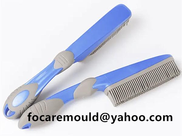 two shot pet grooming brush handle