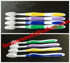 dual colored tooth brush mold