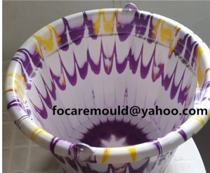 3 mix color bucket mold