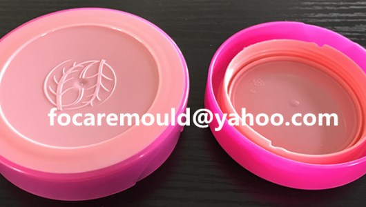 two color mold cosmetic jar lid